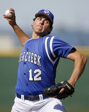 Photo - Michael Fulmer is shown pitching for Deer Creek High School in 2011. Photo by Sarah Phipps, The Oklahoman Archives