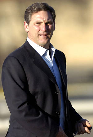 photo -   FILE - In this March 13, 2011, file photo, college football analyst Craig James is seen in Lubbock, Texas. James, who starred as a tailback at Southern Methodist University and with the New England Patriots in the 1980s, announced Monday, Dec. 19, 2011 he was running for the U.S. Senate as a Republican from Texas, a GOP fundraiser said. James would be running for the 2012 Senate seat being vacated by retiring Republican Kay Bailey Hutchison. (AP Photo/Geoffrey McAllister, File)