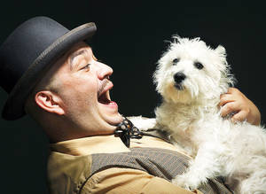 "Photo - John Haque and Molly in a publicity photo for Oklahoma Shakespeare in the Park production, ""Two Gentlemen of Verona.""  Photo by Jim Beckel, The Oklahoman <strong>Jim Beckel</strong>"