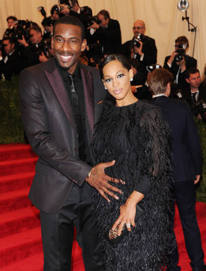 "Photo - Amar'e Stoudemire and his wife Alexis attend The Metropolitan Museum of Art's Costume Institute benefit celebrating ""PUNK: Chaos to Couture"" on Monday, May 6, 2013, in New York. (Photo by Evan Agostini/Invision/AP)"