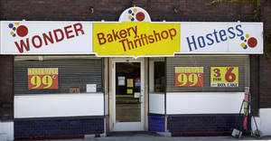 photo -   The Wonder Hostess Bakery Thriftshop is shown at the Utah Hostess plant in Ogden, Utah, Thursday, Nov. 15, 2012. Hostess Brands Inc. is warning striking employees that it will move to liquidate the company if plant operations don't return to normal levels by Thursday evening. The maker of Twinkies, Ding Dongs and Wonder Bread said Thursday it will file a motion in U.S. Bankruptcy Court to shutter operations if enough workers don't return by 5 p.m. EST. That would result in the loss of about 18,000 jobs, including hundreds in Ogden. (AP Photo/Rick Bowmer)