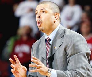 Photo - OU basketball coach Jeff Capel will have nine new players on his roster next season as the Sooners try to bounce back from a disappointing 2009-10.  PHOTO BY STEVE SISNEY, THE OKLAHOMAN