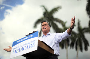 Photo -   Republican presidential candidate and former Massachusetts Gov. Mitt Romney campaigns at the Ringling Museum of Art in Sarasota, Fla., Thursday, Sept. 20, 2012. (AP Photo/Charles Dharapak)
