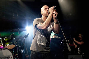 Photo - Daughtry, pictured above, performs Saturday at the Brady Theater, 105 W Brady, in Tulsa. The concert begins at 6:30 p.m. with supporing acts Safetysuit and Mike Sanchez. For information, call (918) 582-7239. AP PHOTO <strong>Jeremy Harris</strong>