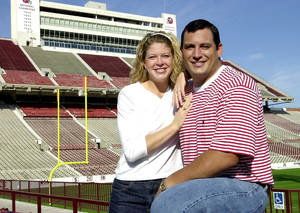 Photo - Bubba Burcham and his then-fiancee Miranda Stacy in 2000. Photo by The Oklahoman Archive