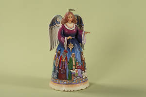 Photo - Artist Jim Shore's designs include angel figurines like this one.  PHOTO PROVIDED