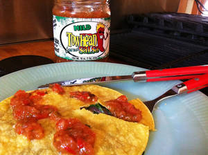 Photo - Quesadilla made on corn tortillas with a little salsa make a delicious, nutricious snack or meal. <strong>SHERREL JONES - THE OKLAHOMAN</strong>