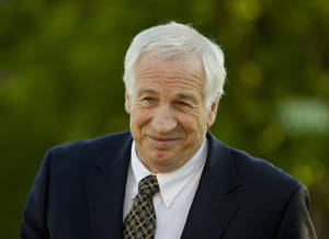 photo -   FILE - This April 5, 2012 file photo shows Jerry Sandusky arriving at the Centre County Courthouse in Bellefonte, Pa. A simple question could be the key to the case against Jerry Sandusky: Will the young men who contend the former Penn State assistant football coach sexually abused them be viewed as credible witnesses? (AP Photo/Matt Rourke, File)