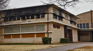 Photo - The old John Marshall High School is shown in this photo taken last Dec. 31.  A fire that destroyed four classrooms was determined to be intentionally set. <strong>CHRIS LANDSBERGER - The Oklahoman</strong>