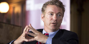 Photo - Sen. Rand Paul, R-Ky., speaks during an event at the University of Chicago's Ida Noyes Hall in Chicago on Tuesday, April 22, 2014. (AP Photo/Andrew A. Nelles)