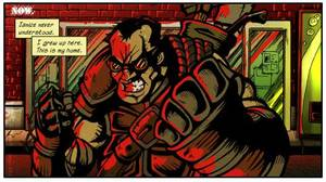 "Rex in ""Hooligan."" Viper Comics. <strong></strong>"