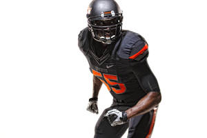 Photo - An all-black version of OSU's new uniforms. PHOTO PROVIDED
