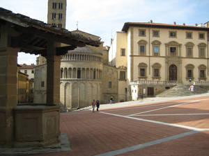 Photo - The main square of Arezzo, a city in Tuscany, where the University of Oklahoma is renovating an 18th century monastery for use as a permanent overseas campus. Photos by Ryan Bowling, University of Oklahoma