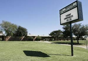 Photo - The exterior of Webster Middle School is seen in this file photo.