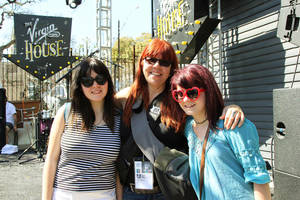 Skating Polly's Peyton Bighorse, from left, Lori Barbero of Babes In Toyland and Kelli Mayo of Skating Polly are seen  at SXSW. Photo by Dave Morris, The Oklahoman