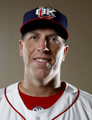 photo - MINOR LEAGUE BASEBALL: Oklahoma City Redhawk's Mike Hessman poses for a photograph during media day for the Oklahoma City Redhawks in Oklahoma City, Tuesday, April 3, 2012. Photo by Sarah Phipps, The OklahomanMINOR LEAGUE BASEBALL: