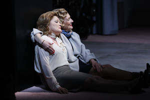 "Photo - This undated publicity photo released by Sam Rudy Media Relations shows Kate Mulgrew, left, and Kathleen Chalfant in a scene from Jenny Schwartz's new play, ""Somewhere Fun,"" currently performing off-Broadway at the Vineyard Theatre in New York.  (AP Photo/ Sam Rudy Media Relations, Carol Rosegg)"
