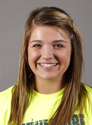 Photo - Katelyn Brown of the Southmore softball team poses for a mug during the spring high school sports photo day in Oklahoma City, Wed. Feb. 27, 2013. Photo by Bryan Terry, The Oklahoman