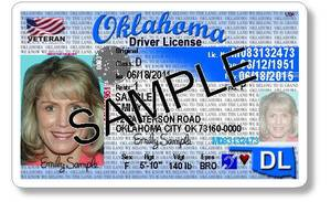 Photo - A sample of the redesigned Oklahoma driver's license to be rolled out statewide over the next three to four months is shown. Photo provided by Oklahoma Department of Public Safety