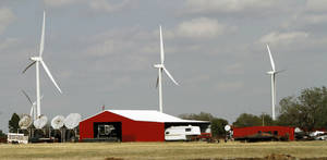 photo - Search engine giant Google Inc. has signed a deal for wind power from the Grand River Dam Authority to help power the Google data center in Pryor.  Photos By Steve Gooch, The Oklahoman
