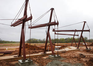 Photo - Construction of Edmond's new softball complex is underway. It is expected to be completed by late summer or early fall.  Photos By David McDaniel, The Oklahoman