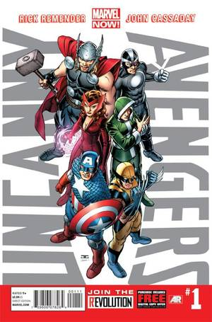 "Photo -   This comic image released by Marvel Entertainment shows the cover of the upcoming ""Uncanny Avengers,"" part of Marvel Comics' new initiative aimed at recharging the publisher's heroes and villains. (AP Photo/Marvel Entertainment)"