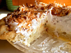 Photo -  Coconut cream pie is a heavenly choice for your Easter feast. PHOTO PROVIDED  <strong>   -   </strong>