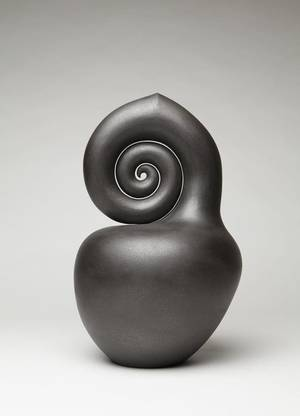 "Photo - ""Nautilus,"" a sculpture by Navao artist Christine Nofchissey McHorse, is one of the works on display in ""Dark Light"" at the Fred Jones Jr. Museum of Art in Norman. PHOTO PROVIDED. <strong>Photographer: Addison Doty</strong>"