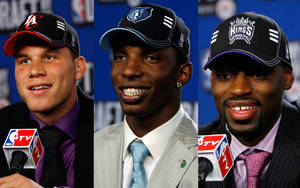 Photo - Top draft picks Blake Griffin (Clippers), Hasheem Thabeet (Memphis) and Tyreke Evans (Sacramento). AP PHOTO