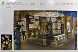 Photo - Two artist renderings show planned changes to the Oklahoma City National Memorial & Museum.