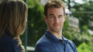 "Photo - Sarah Megan Thomas and James Van Der Beek star in ""Backwards."" Dada Films Photo"