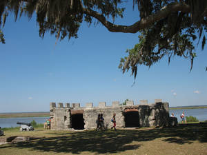 Photo - Visitors inspect the ruins of Fort Frederica on St. Simons Island in Georgia. Photo courtesy of Glenda Winders.