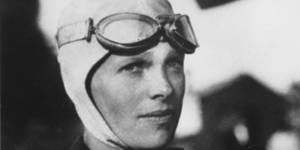 Photo - Amelia Earhart, the first woman to fly solo across the Atlantic Ocean, is seen in this undated photo.  (AP Photo)