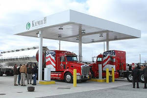 Photo - TruStar Energy is building a large compressed natural gas fueling station in Guymon for Seaboard Foods and subsidiary High Plains Bioenergy. The California-based company completed this station for Kalmbach Feeds Inc. in Ohio last year.