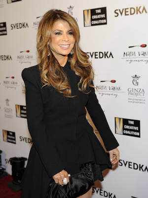 photo - Paula Abdul arrives at the Creative Coalition Night Before Dinner on Sunday, Jan. 20, 2013, in Washington. (Photo by Nick Wass/Invision/AP)
