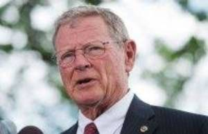 Photo - UNITED STATES - JUNE 20: Sen. Jim Inhofe, R-Okla., speaks at a news conference outside of the Capitol to oppose the immigration reform bill in the Senate. (Photo By Tom Williams/CQ Roll Call)