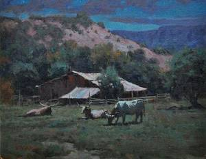 """Photo - """"Night Solitude"""" by Tucson painter Phil Starke. IMAGE PROVIDED"""