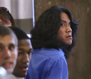 photo - Kody Koonce, 17,  and Rusty Begay, 20, seen here, appeared in Special Judge Larry A Jones' courtroom at the Oklahoma County Courthouse Monday afternoon, July 23, 2012.  The two are accused of raping a girl with Down Syndrome.   Photo by Jim Beckel, The Oklahoman.