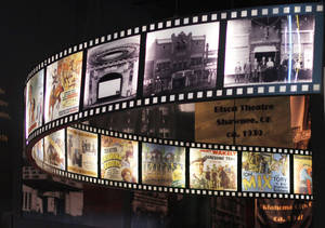 Photo - Visitors to the Oklahoma History Center's movies' exhibit can see a glimpse of 73 movies filmed in the state. PHOTO BY DOUG HOKE, THE OKLAHOMAN. <strong>DOUG HOKE</strong>