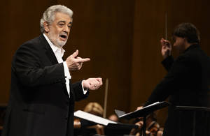 Photo - FILE - In this June 7, 2013 file photo, tenor Placido Domingo performs at the Dorothy Chandler Pavilion in Los Angeles. Domingo will sing before a World Cup final for the sixth time, announcing Wednesday, June 11, 2014 he will perform at Rio de Janeiro's HSBC Arena on July 11. (Photo by Dan Steinberg/Invision/AP, File)