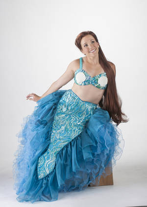 """Photo -  Amanda Lea LaVergne as Princess Ariel in the Lyric Theatre production of Disney's """"The Little Mermaid."""" Photo by K.O. Rinearson  <strong></strong>"""
