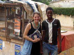 Photo - Capt. Manuela Peters and Cheikh, who she met while in Africa. (Courtesy photo)