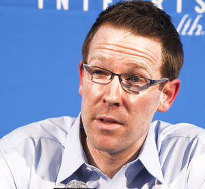 Photo - Despite possible interest from the Portland Trail Blazers, it seems unlikely that Sam Presti would leave Oklahoma City. PHOTO BY PAUL HELLSTERN, THE OKLAHOMAN