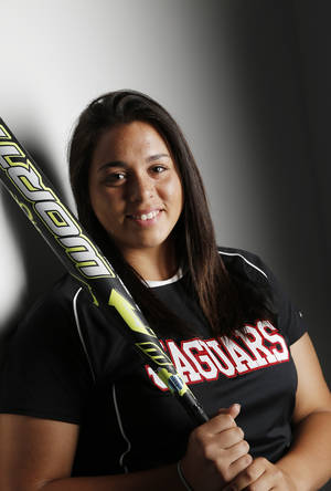 Photo -                    All-City slowpitch softball Player of the Year Destinie Lookout helped guide Westmoore to the Class 6A state semifinals.                     Photo by Doug Hoke, The Oklahoman