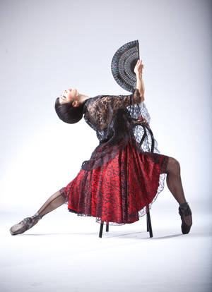 "Photo - Ezlimar Dorotlina appears in costume as Carmen from Oklahoma City Ballet's production of ""Carmen."" Photo by Simon Hurst. <strong></strong>"