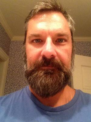 Photo - Pharmaceutical sales manager Brian Murphy stopped shaving after he was laid off in September. PHOTO PROVIDED <strong></strong>