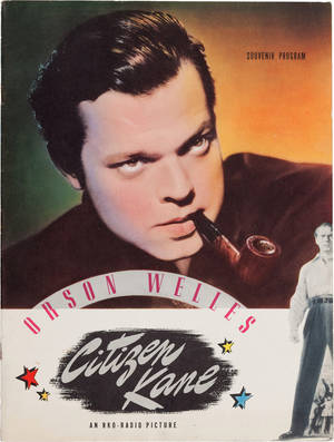 "Photo - FILE - This undated file photo provided by Heritage Auctions shows Orson Welles' personal copy of a souvenir program from his classic 1941 film, ""Citizen Kane,""  which was among the legendary actor, director and scriptwriter's items consigned by his daughter, Beatrice Welles for sale by Heritage Auctions in New York City on Saturday, April 26, 2014. The collection fetched $180,000. (AP Photo/Heritage Auctions, File)"