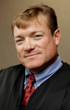 Photo - Special Judge Steve Stice <strong>STEVE SISNEY - THE OKLAHOMAN</strong>