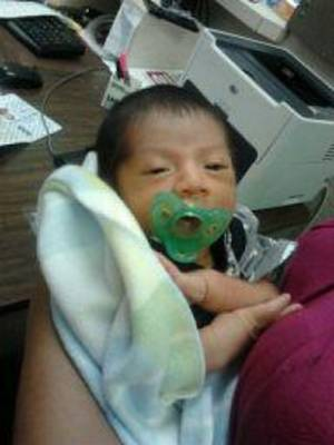 Photo - Rey Chicoj Pol is shown in this photo. He was born May 14 and died in a tornado Friday. <strong></strong>