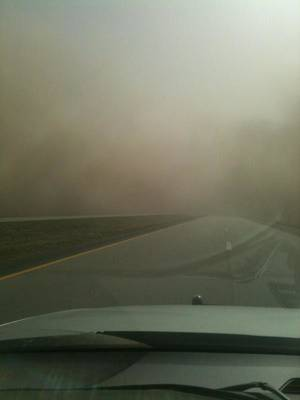 photo - Interstate 35 near Blackwell, exit 222. Photo provided by Blackwell police department <strong> - Photo provided by Blackwell poli</strong>
